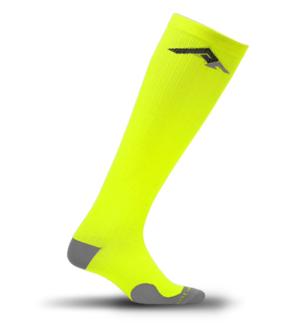 Neon Yellow Marathon Sock